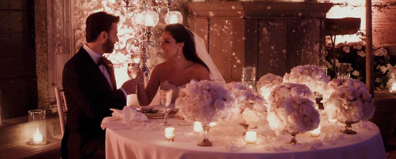 Tavolo sposi castello di Bracciano