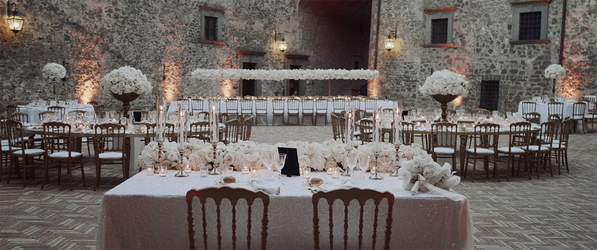 Wedding Dinner Settings Bracciano Castle