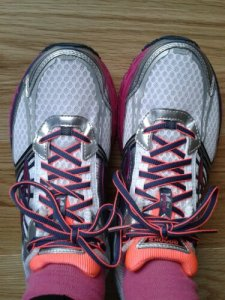New trainers - scarily clean and PINK!