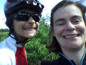 Son and me. Serious Cyclists.