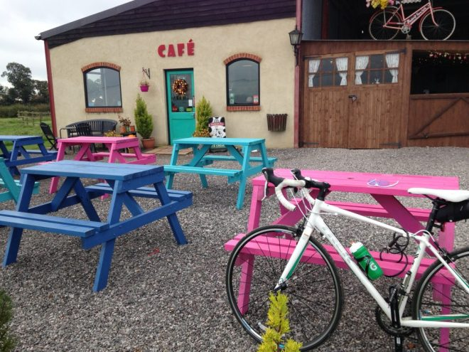 Bike and cafe. Nuff said.