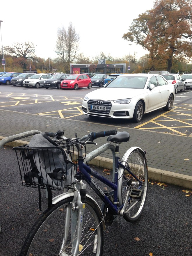 My bike at Bath Road Retail Park