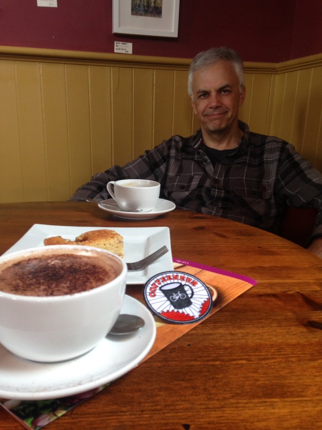 Photo of coffee and husband. Yum!