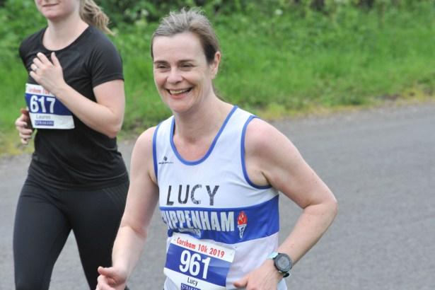 Happy running face