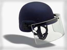 Helmet With Ballistic Face Shield