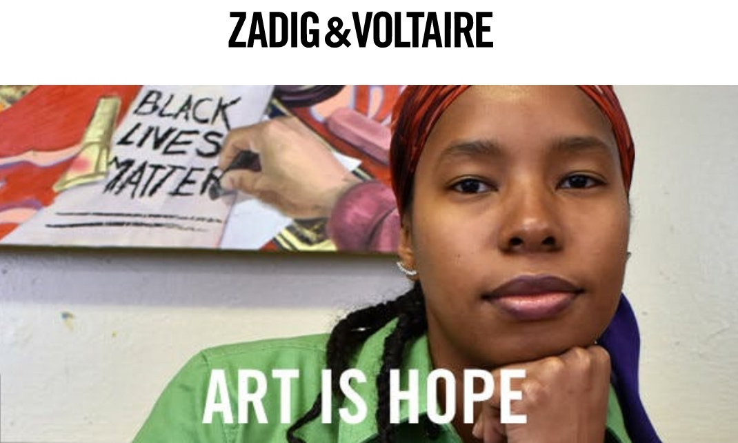Zadig and Voltaire'sArt Is Hope Campaign Celebrates Daphne Arthur
