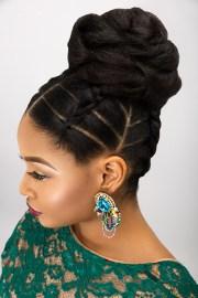 bridal updos natural hair