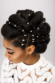 bridal updos natural hair