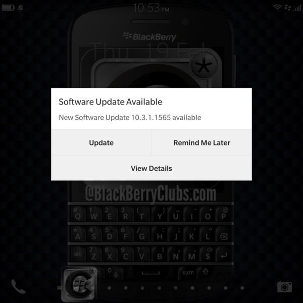 BlackBerry Passport get BlackBerry OS 10.3.1 OTA update_2