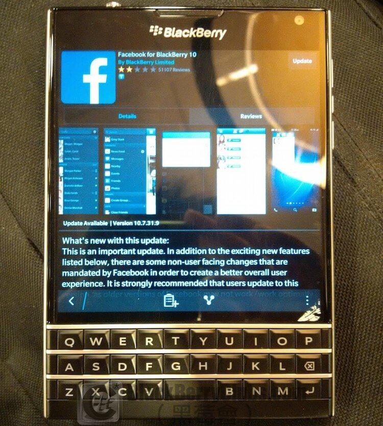 Facebook for BlackBerry 10 在BlackBerry World 更新至版本10 7