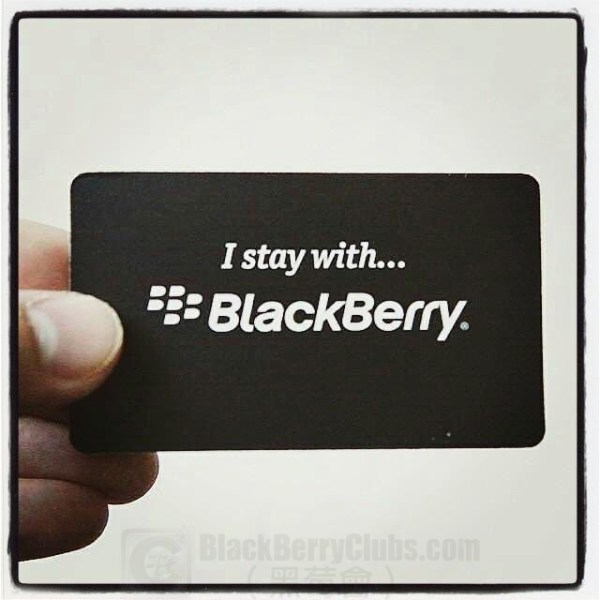 I Stay With BlackBerry
