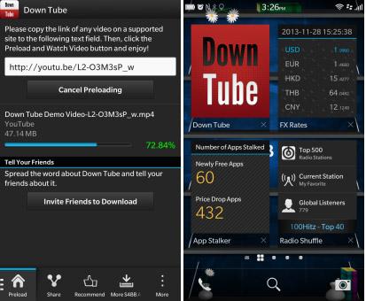 Igrann rc 1 v 1.0.0.6 for blackberry 10 apps model: Down Tube for BlackBerry 10 updated  1.4.0.2 - free