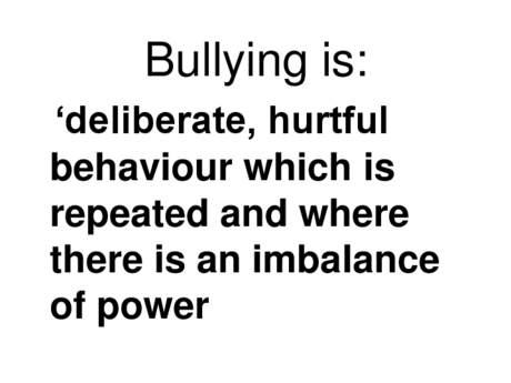 Slides from Anti-Bullying Workshop – Feb 2014