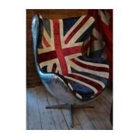 Aviation Aluminium Chair with Union Jack Fabric ...