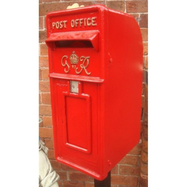 Cast Iron Replica Royal Mail Gr Red Post Box - Blackbrook