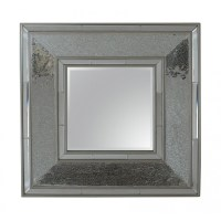 Square Silver Mosaic Wall Mirror