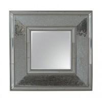 Square Silver Mosaic Wall Mirror