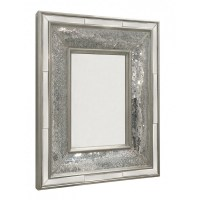 Large Rectangular Silver Mosaic Wall Mirror - Blackbrook ...