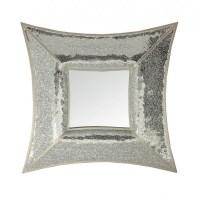 Curved Square Silver Mosaic Wall Mirror - Blackbrook Interiors