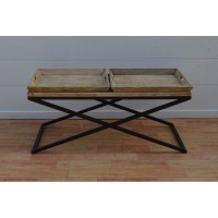 Wooden Coffee Table with Removable Trays - Blackbrook ...