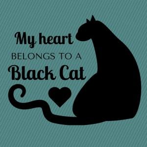 My Heart Belongs to a Black Cat Design