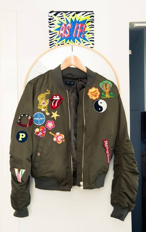 zara bomber patches