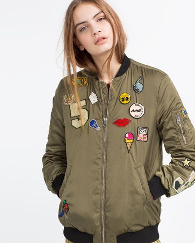 zara patch bomber