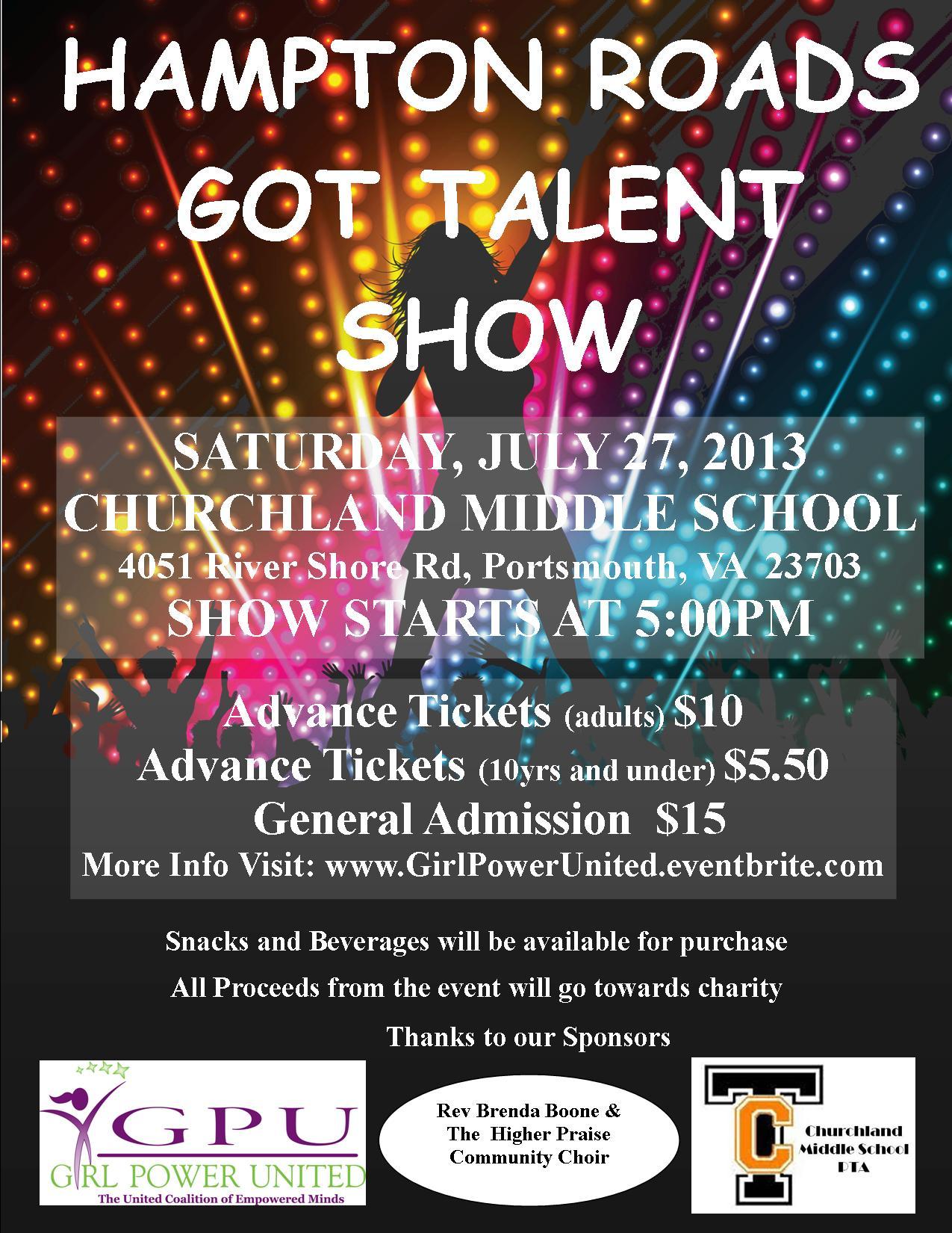 Virginia Nonprofit Girl Power United Inc to Host Hampton Roads Talent Show to Provide