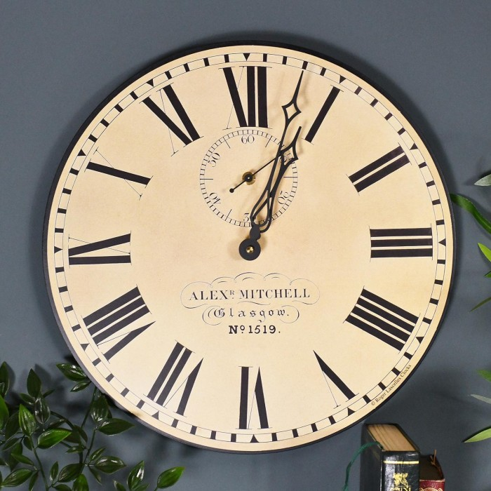 Traditional Glasgow Station Wall Clock With Second Hand Black Country Metalworks