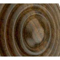 Ribbed End Wooden Door Knob