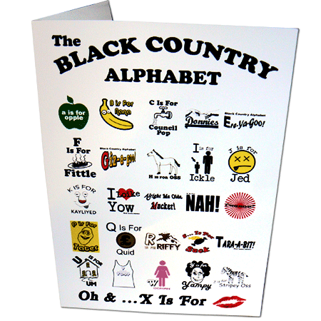 Black Country Alphabet Greeting Card Black Country T Shirts