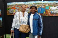 Artist Fortune Sitole @Beverly Hills Fall Art Show