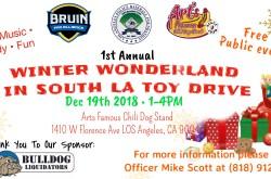 Winter Wonderland Toy Drive in South LA