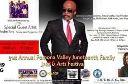 Pomona Valley Juneteenth Jazz & Arts Festival
