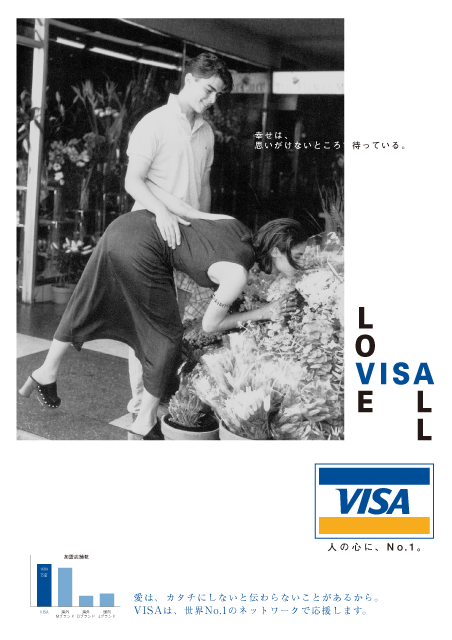 VISA LOVE IS ALL 雑誌広告