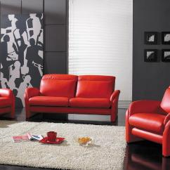 Black And Red Leather Sofa Used Sectional Sofas For Sale Yil 926 Modern Set Design Co