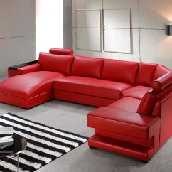 3 Seater Black Leather Sofa Brown Polish Orion – Red Bonded Sectional Set | ...