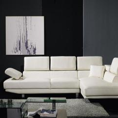 Leather Sofa Black And White Wall Bed Conversions T60  Bonded Sectional Set