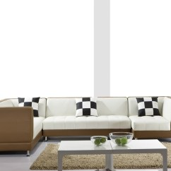Modern Retro Sofa And Loveseat Tufted Leather Ontario 0892 Sectional Black Design Co