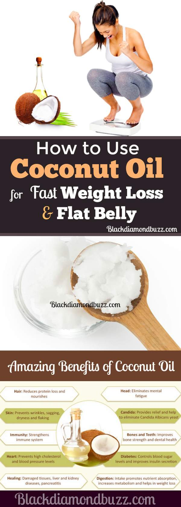 How to use Coconut Oil for Weight Loss and Flat Belly