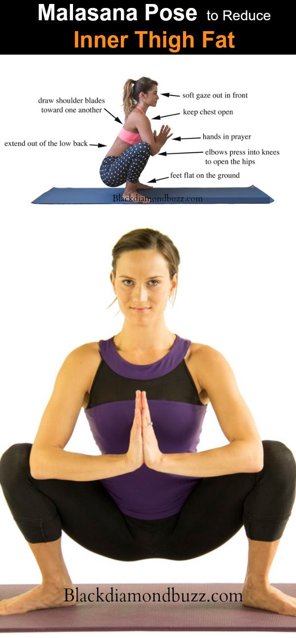 Malasana Yoga pose to Reduce Inner Thigh Fat