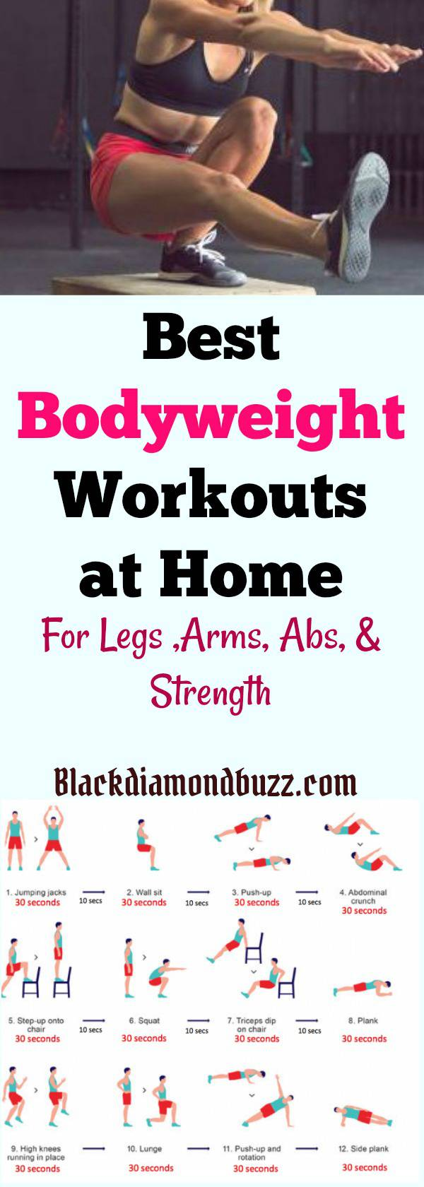 7 Best Bodyweight Exercises for Weight Loss at Home - For Legs, Arms ...