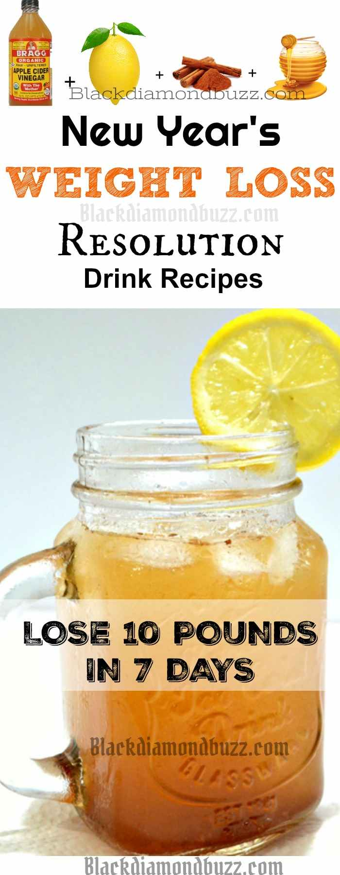 New Year Weight Loss Resolution Drink Recipes Lose 10 pounds in 7 Days