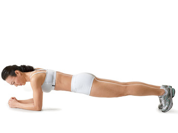 does plank reduce breast size?
