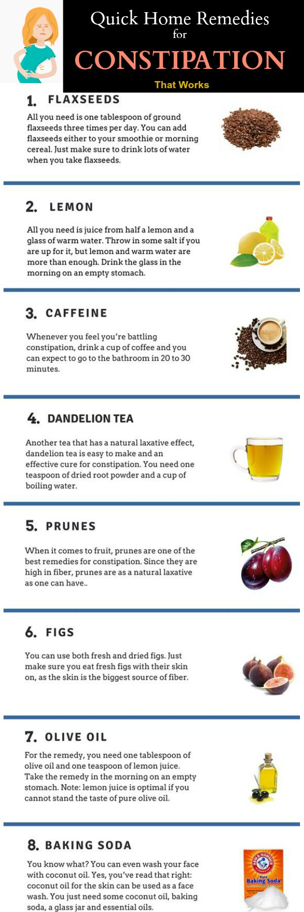 Quick Home Remedies for Constipation that works