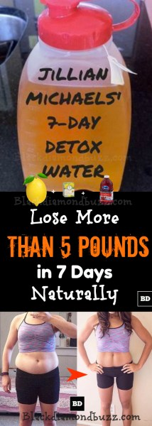 Jillian Michaels' 7 Days Detox Water Recipes - Lose More Than 5 Pounds Naturally in 7 Days