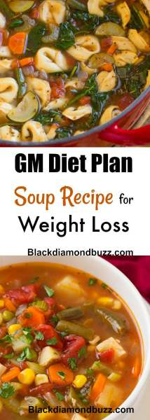 GM Diet Plan Soup Recipe for Weight Loss - Meal plan