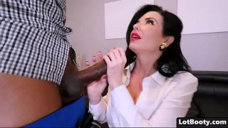 Two black cocks anal penetrate fat ass MILF Veronica Avluv
