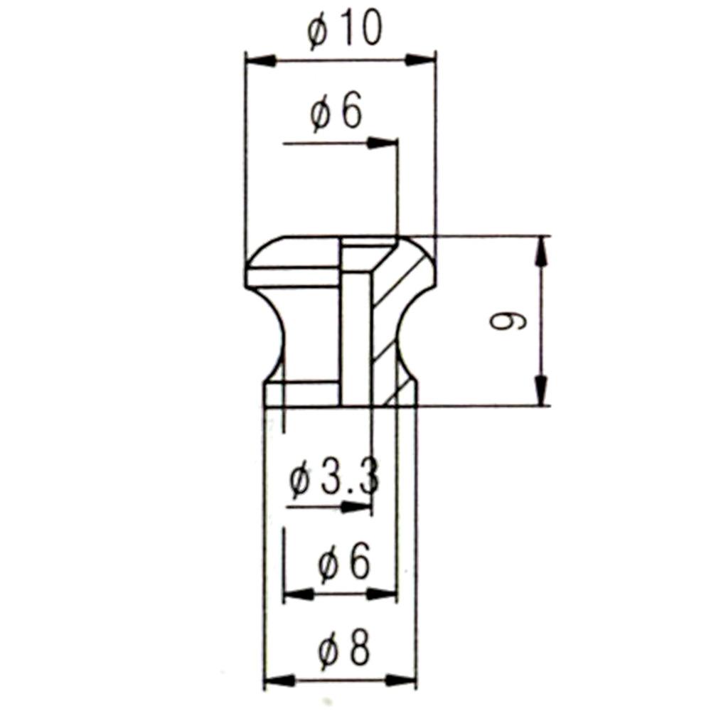 Strap Pin 10 mm Diameter, in Chrome, Black, Nickel or Gold