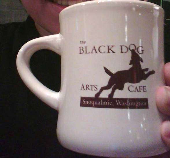 Black Dog Coffee Mug Image